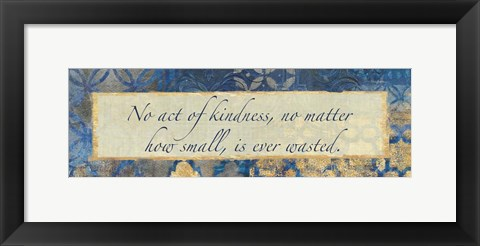Framed Acts Of Kindness Print