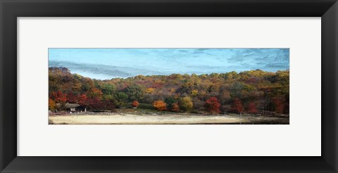 Framed Fall On Canvas Print