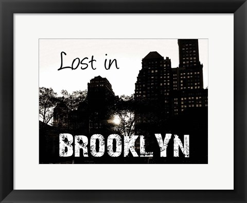 Framed Brooklyn Skyline Print