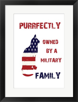 Framed Military Pet Print