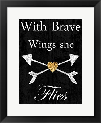Framed Brave Wings Print