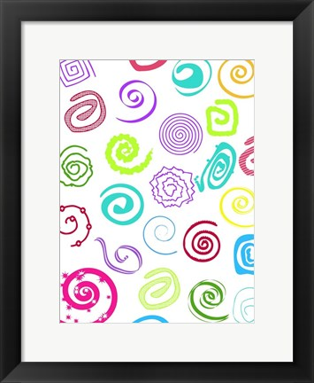 Framed Birthday Patterns Print