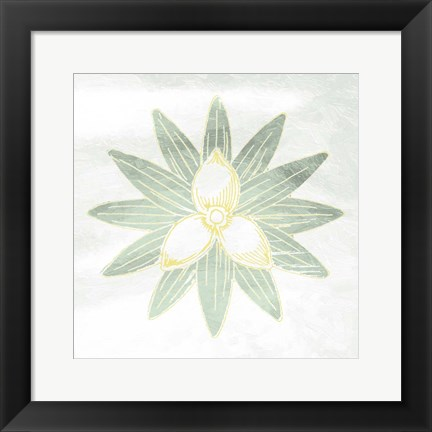Framed Textured Flower Print