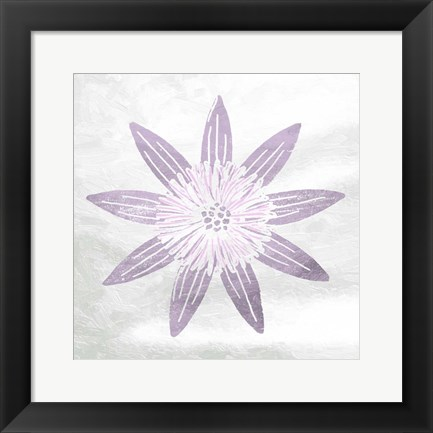 Framed Soft Texture Flower Print