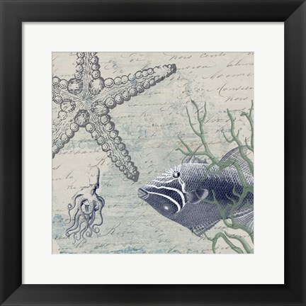 Framed Blue Ocean Print