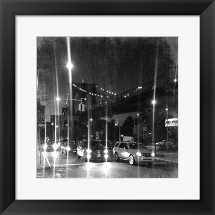 Framed Travel To Brooklyn Bridge Print
