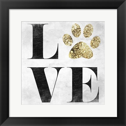 Framed Love My Pet Print