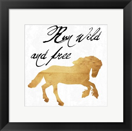 Framed Wild And Free Print