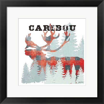 Framed Plaid Caribou Print