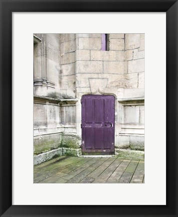 Framed Purple Cluny 1 Print