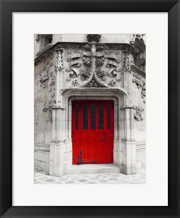 Framed Red Door Print
