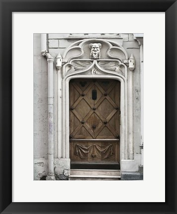 Framed Paris Door Print