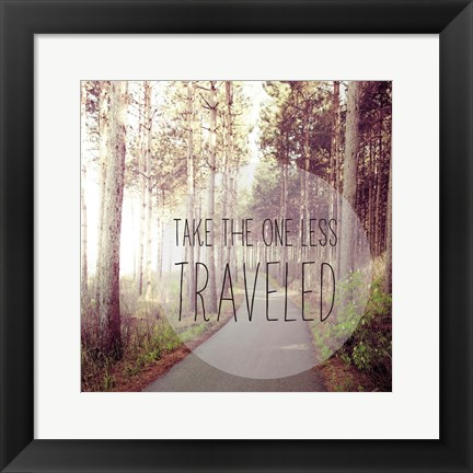 Framed Less Traveled Print