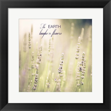 Framed Lavender Fields Quote Print
