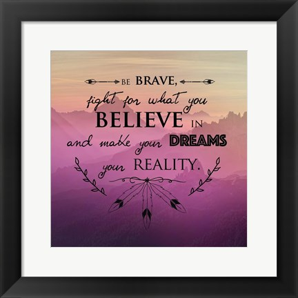 Framed Dreams Print
