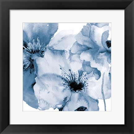 Framed Flowing Flowers 2 Print