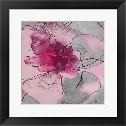Framed Flower Bomb 1 Print