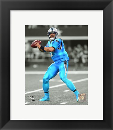 Framed Cam Newton 2015 Spotlight Action Print
