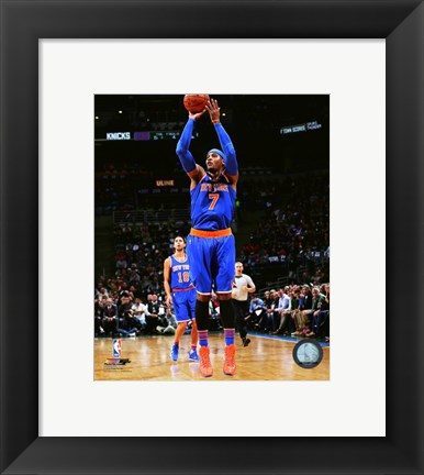 Framed Carmelo Anthony 2015-16 Action Print