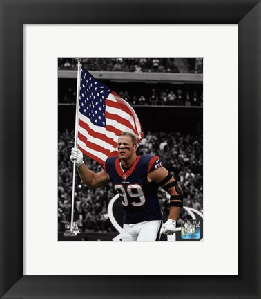 Framed J.J. Watt 2015 Spotlight Action Print