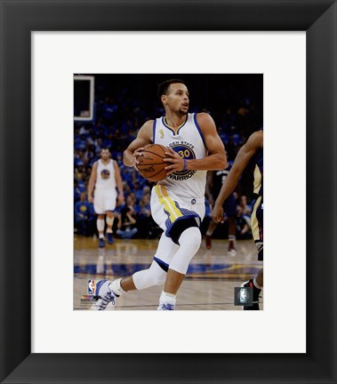 Framed Stephen Curry 2015-16 Action Print