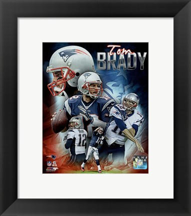 Framed Tom Brady 2015 Portrait Plus Print