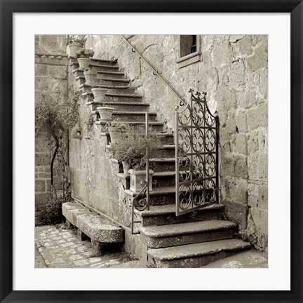 Framed Umbria Scala I Print