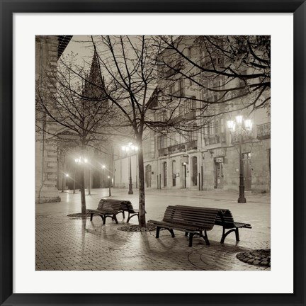 Framed Oveido Cathedral Bancs II Print
