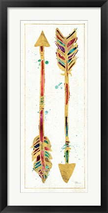 Framed Beautiful Arrows I Print