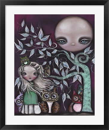 Framed Night Creatures Print