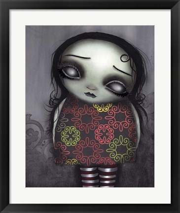 Framed Zombie Girl Print