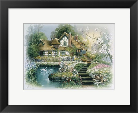 Framed Cottage 1 Print