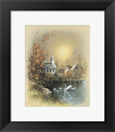 Framed House B Print