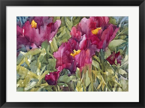 Framed Burgeoning Blossoms Print