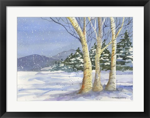 Framed Birch III Print
