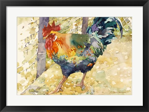 Framed Colorful Rooster Print