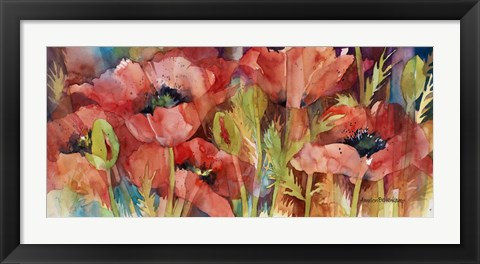 Framed Petals On Parade Print