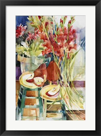 Framed Sweeping Blooms Print