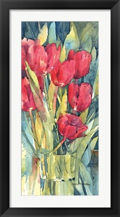 Framed Red Hot Tulips Print