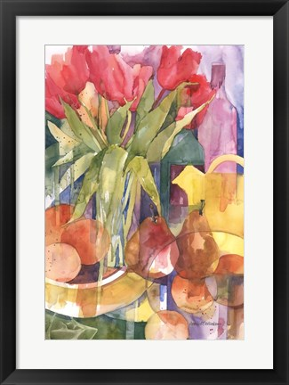 Framed Tabletop Tulips Print