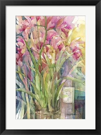 Framed Orchid Gathering Print