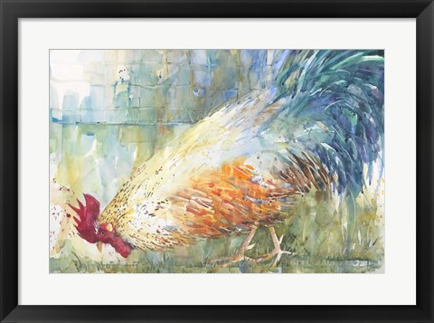 Framed Feathered Forager Print