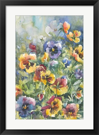 Framed Picture Perfect Pansies Print