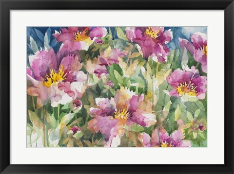 Framed Peony Personalities Print