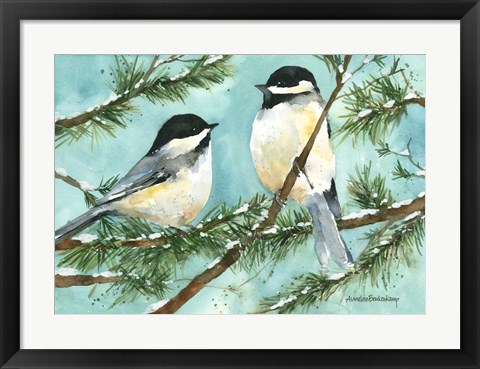 Framed Chickadee Chat Print