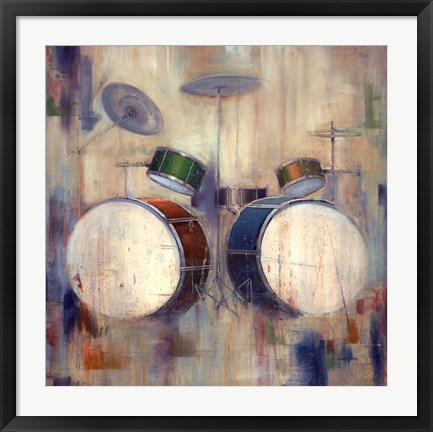 Framed Drums Print