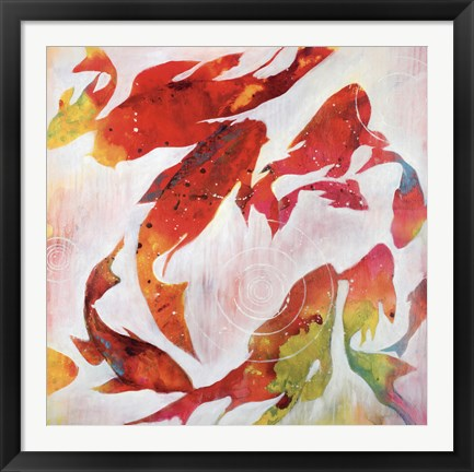 Framed Koi Pond Print