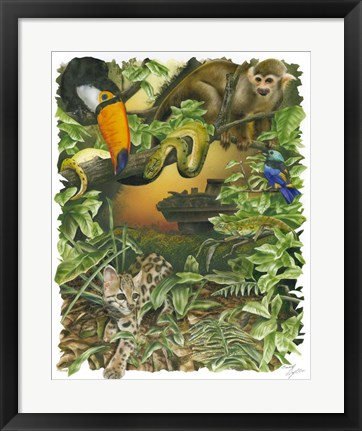 Framed Endangered Rainforest Print