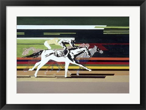 Framed Race Horses Print