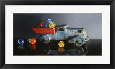 Framed Antique Toy Truck Print